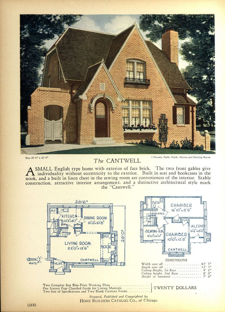 1928 Home Builders Catalog Small House Vintage House Plans How To Plan