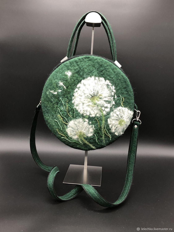 4ecf5cabd23f Сумка «Одуванчики» женская круглая - купить или заказать в интернет-магазине  на Ярмарке