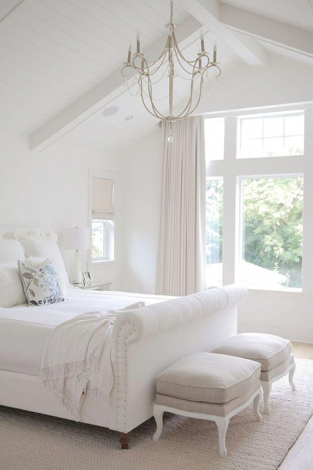 Many people like to have a chandelier in their bedroom
