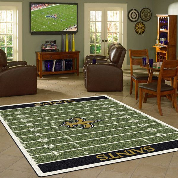 New Orleans Saints Nfl Home Field Rug Products Pinterest Fields And