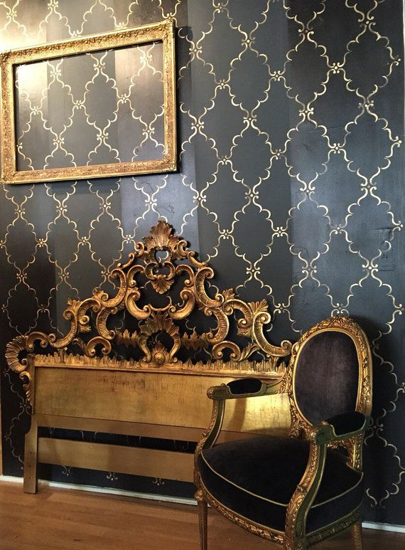 Antique Painted Gold Gilt Florentine Italian Bed . by ...