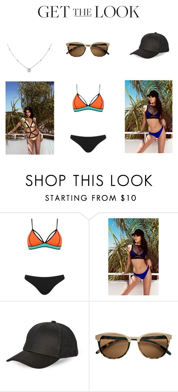 """""""Swimsuits"""" by dianthesiva ❤ liked on Polyvore featuring Kendall + Kylie, Topshop, BCBGeneration, Ice, GetTheLook and Swimsuits"""