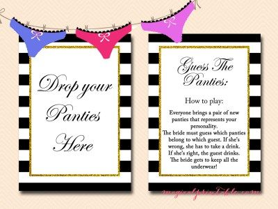 guess the panties game bridal shower game bachelorette game bridalshower bridalshowergame magicalprintable