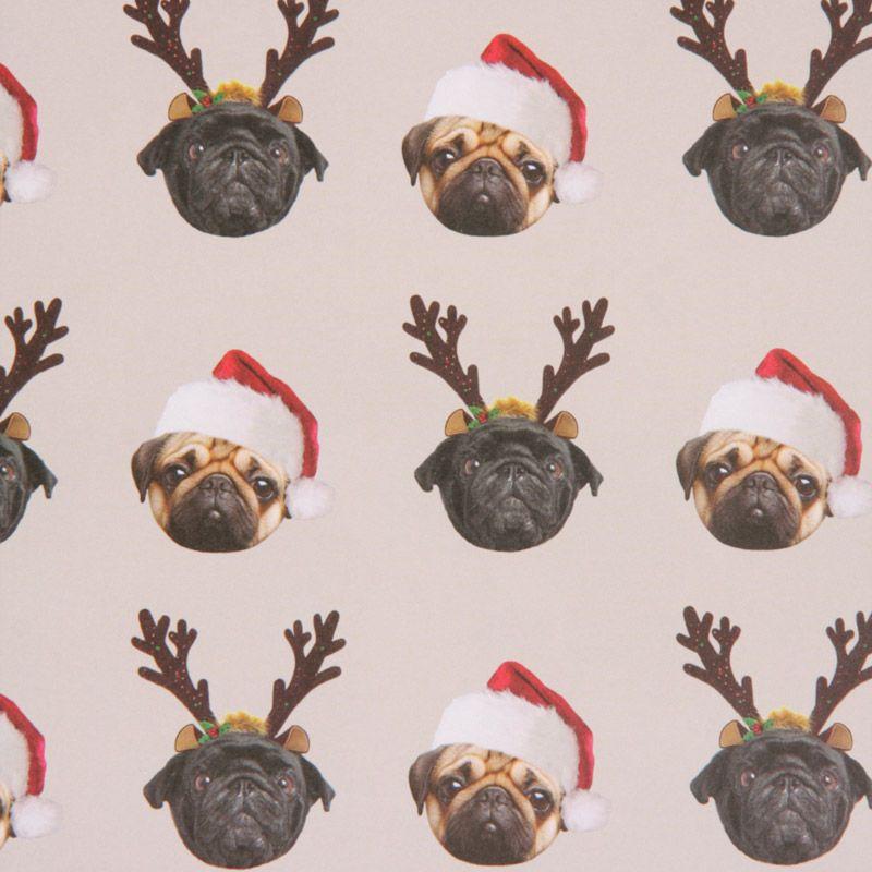 Pug Christmas Gift Wrap Sheets At Www Ilovepugs Co Uk Post Worldwide Pug Wallpaper Cute Pugs Pug Christmas