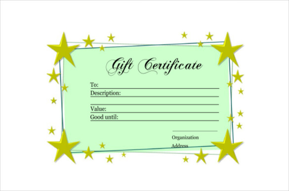 Homemade Gift Certificate Template 4 Best Templates