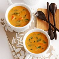 Coconut-Pumpkin Soup from better home homes and gardens