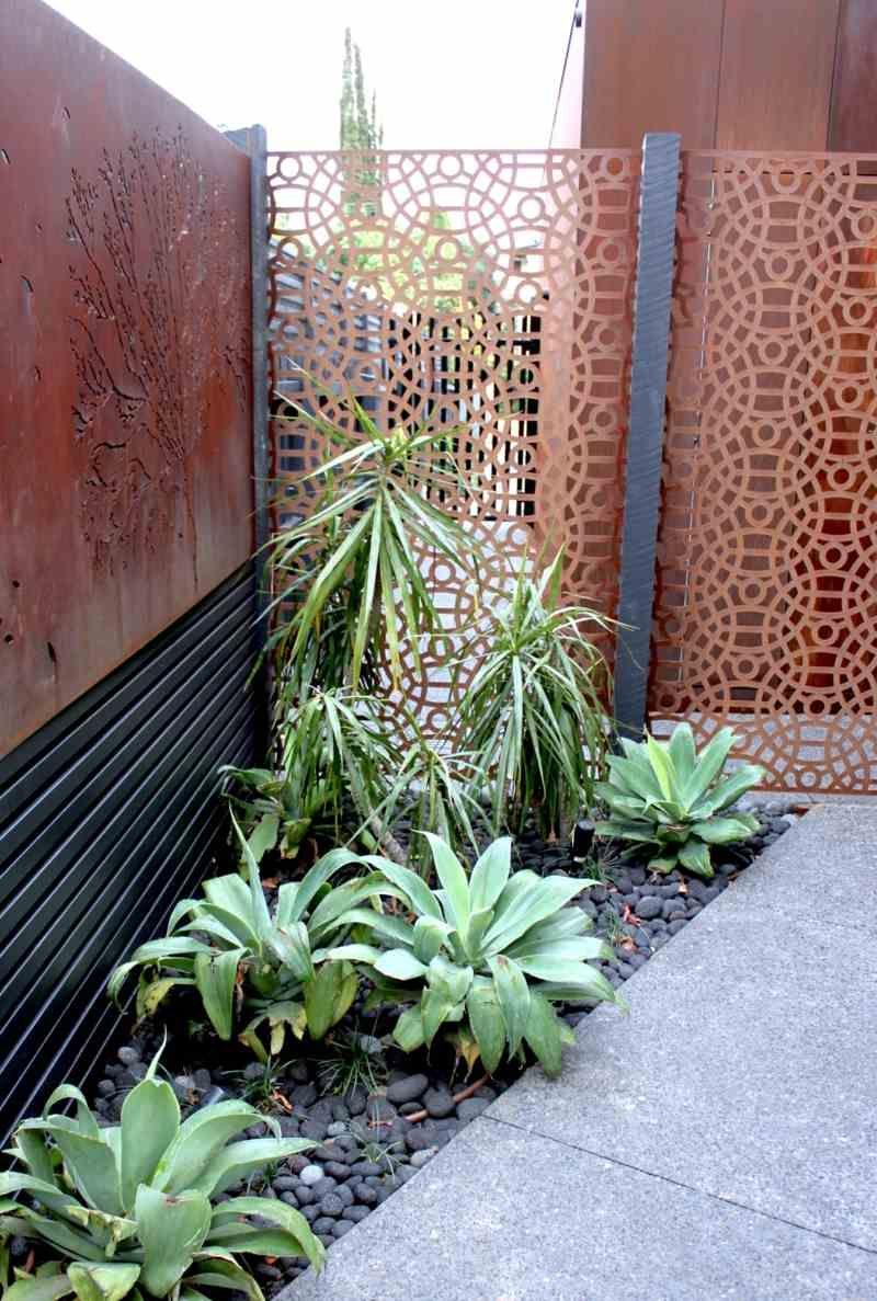 Cortenstahl Sichtschutz Fur Garten 30 Ideen Und Beispiele