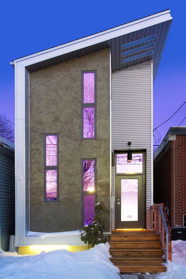 Tiny Modern House narrow-modern-infill-tiny-house located in the 'tiny town