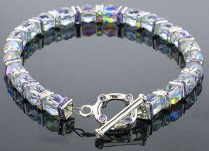 Fancy Crystals Bracelet from www.favecrafts.com  #FaveCrafts