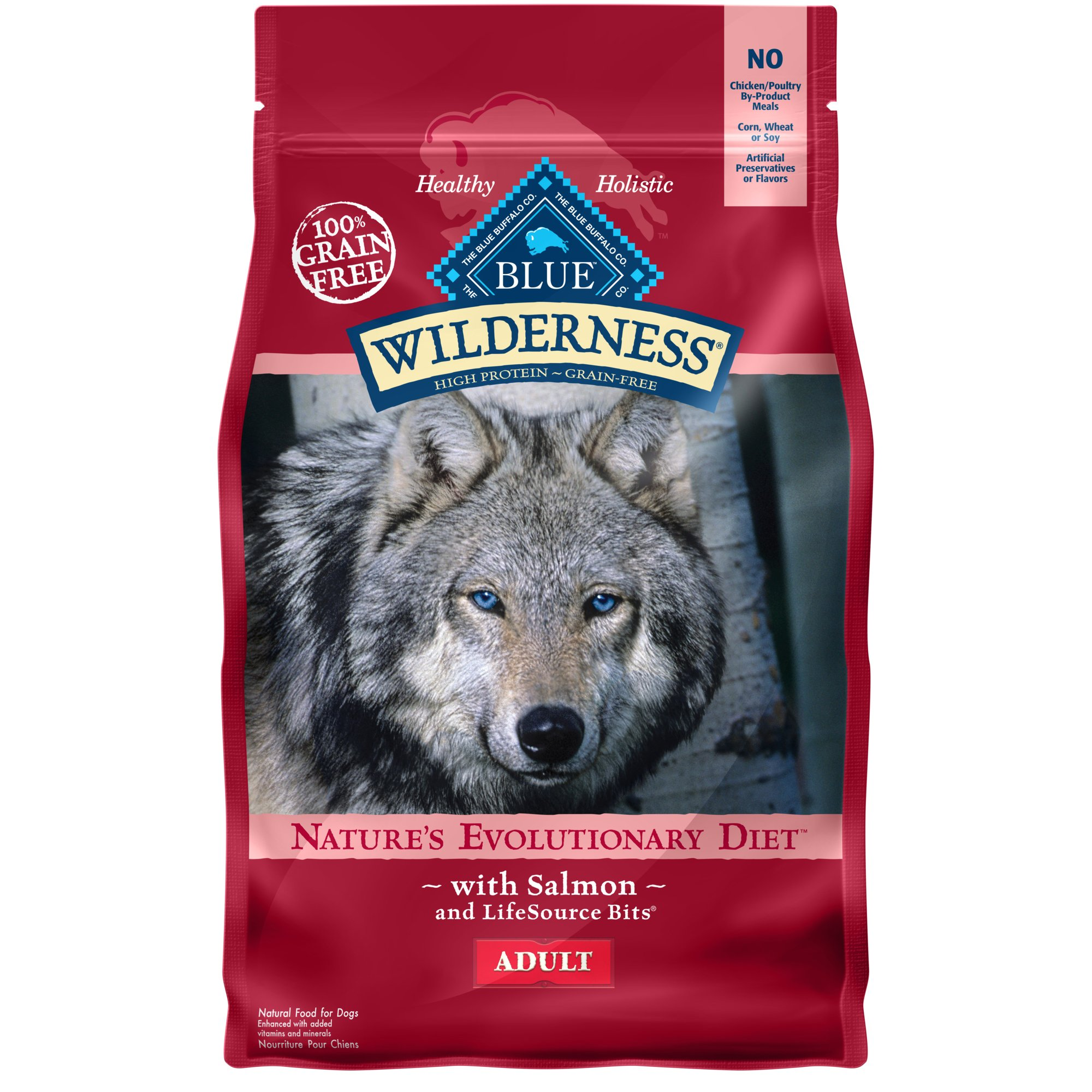 Blue Buffalo Blue Wilderness Adult Salmon Recipe Dry Dog Food 4 5