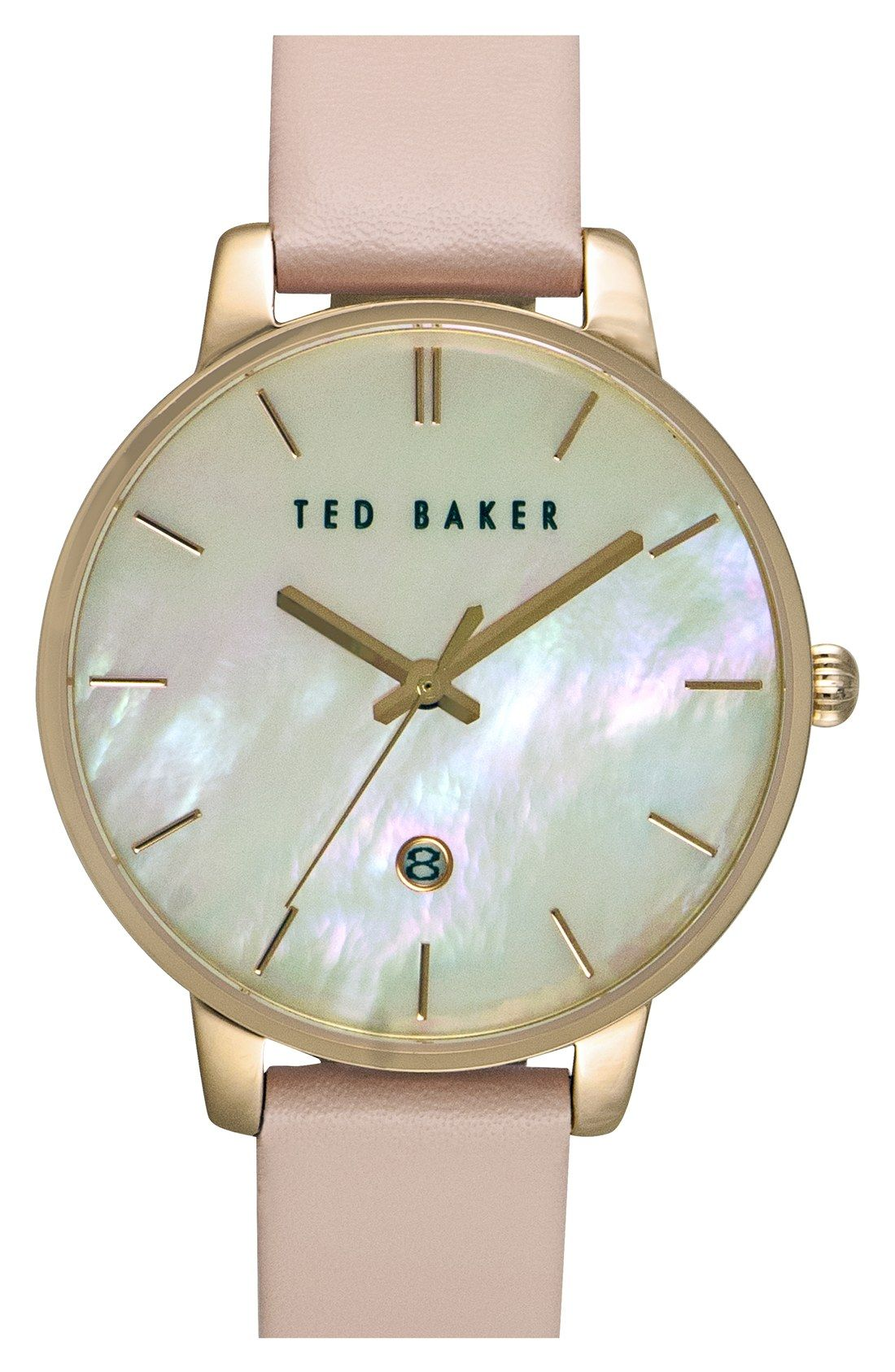 fca616b12 Ted Baker London Leather Strap Watch, 40mm | Nordstrom | -BLING ...