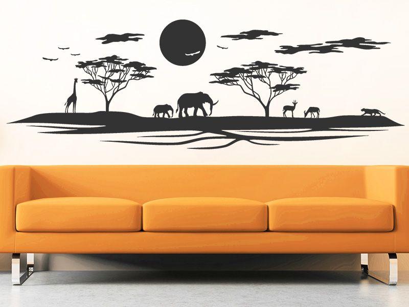 Das Wandtattoo Landschaft in Afrika hier bestellen. ✓ Große Auswahl | Top Qualität | schnelle Lieferung | kostenloser Versand (D) bei Wandtattoos.de.