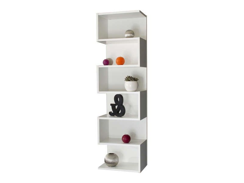 Etagere Decorative 6 Cases Coloris Blanc Vente De Bibliotheque