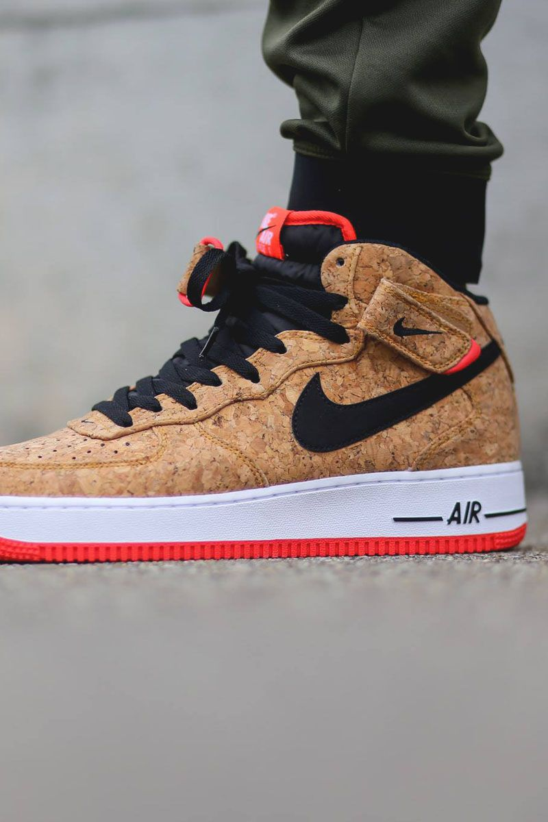 reputable site 0a202 83ff5 NIKE Women s Shoes - Nike Air Force 1 Mid Cork - Find deals and best selling