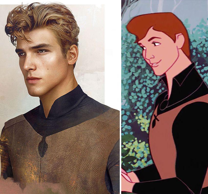 Jirka Väätäinen - Designer Graphique - Les Princes - Disney - Philippe, La Belle au Bois Dormant