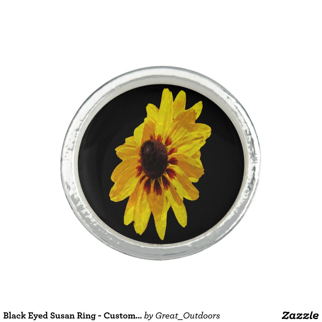 Black Eyed Susan Ring Customizable Color Jewelry Wallets And