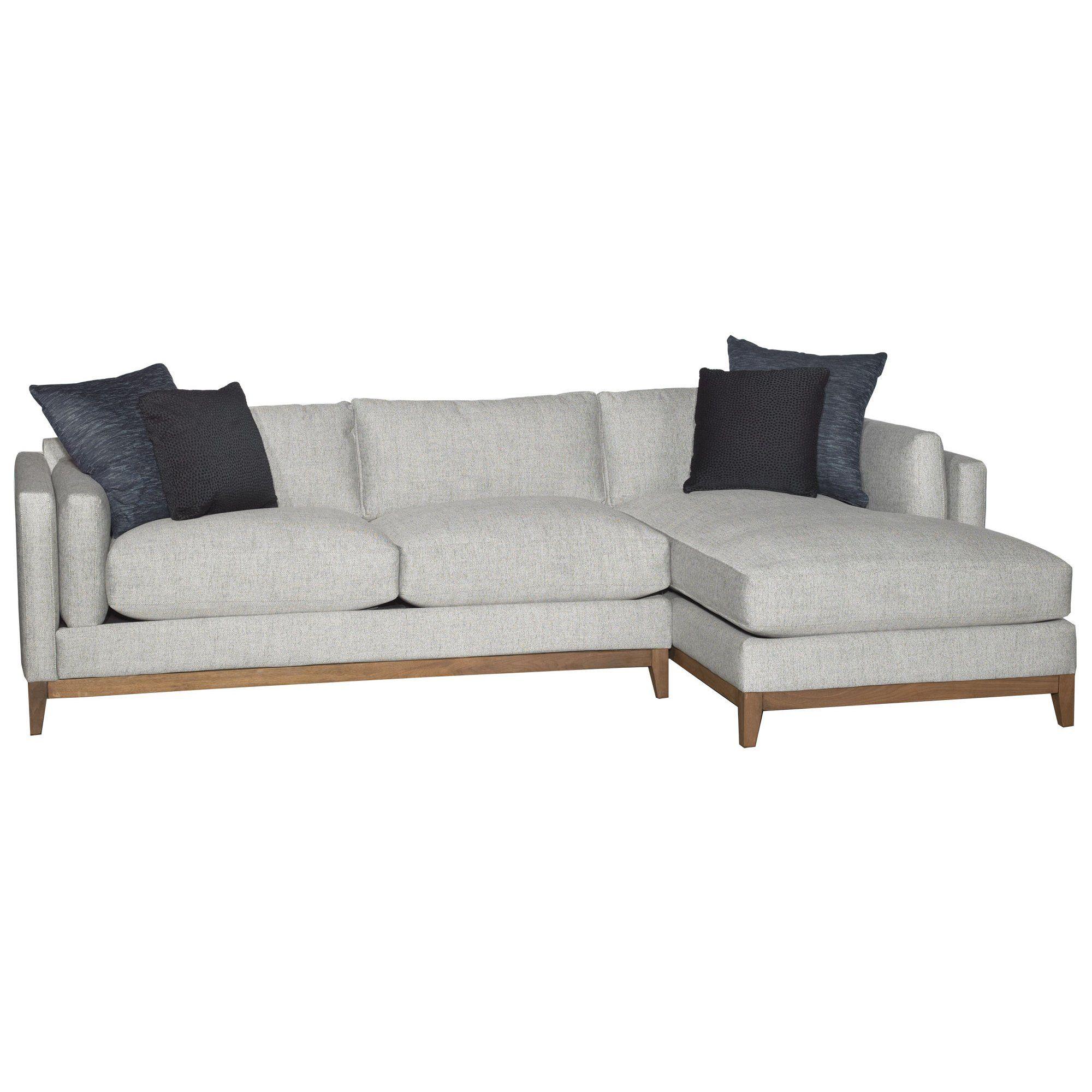 Mid Century Modern Sectional Chaise Sofa Custom Built Mid