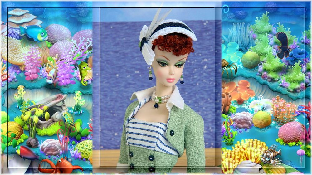 ~Beyond the Sea~OOAK Fashion for Silkstone/Vintage Barbie/Fashion Royalty~Joby #JobyOriginals
