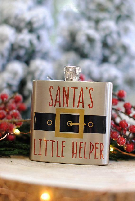 santa s little helper christmas flask funny christmas party favors