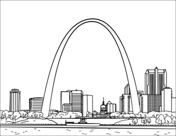St Louis Gateway Arch Coloring Page In 2020 Coloring Pages Gateway Arch Free Printable Coloring Pages