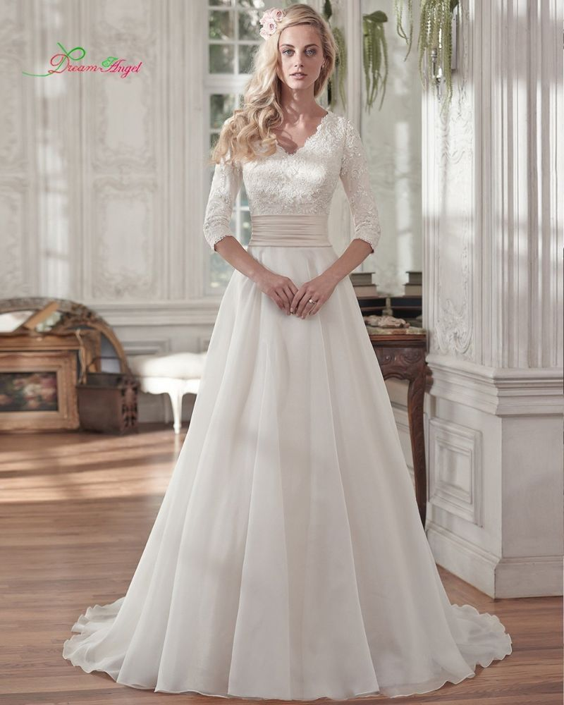 Wedding dresses for short women  Womens aline chiffon wedding dress bridal gown sizes w