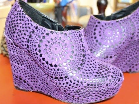Doily wedge shoe!