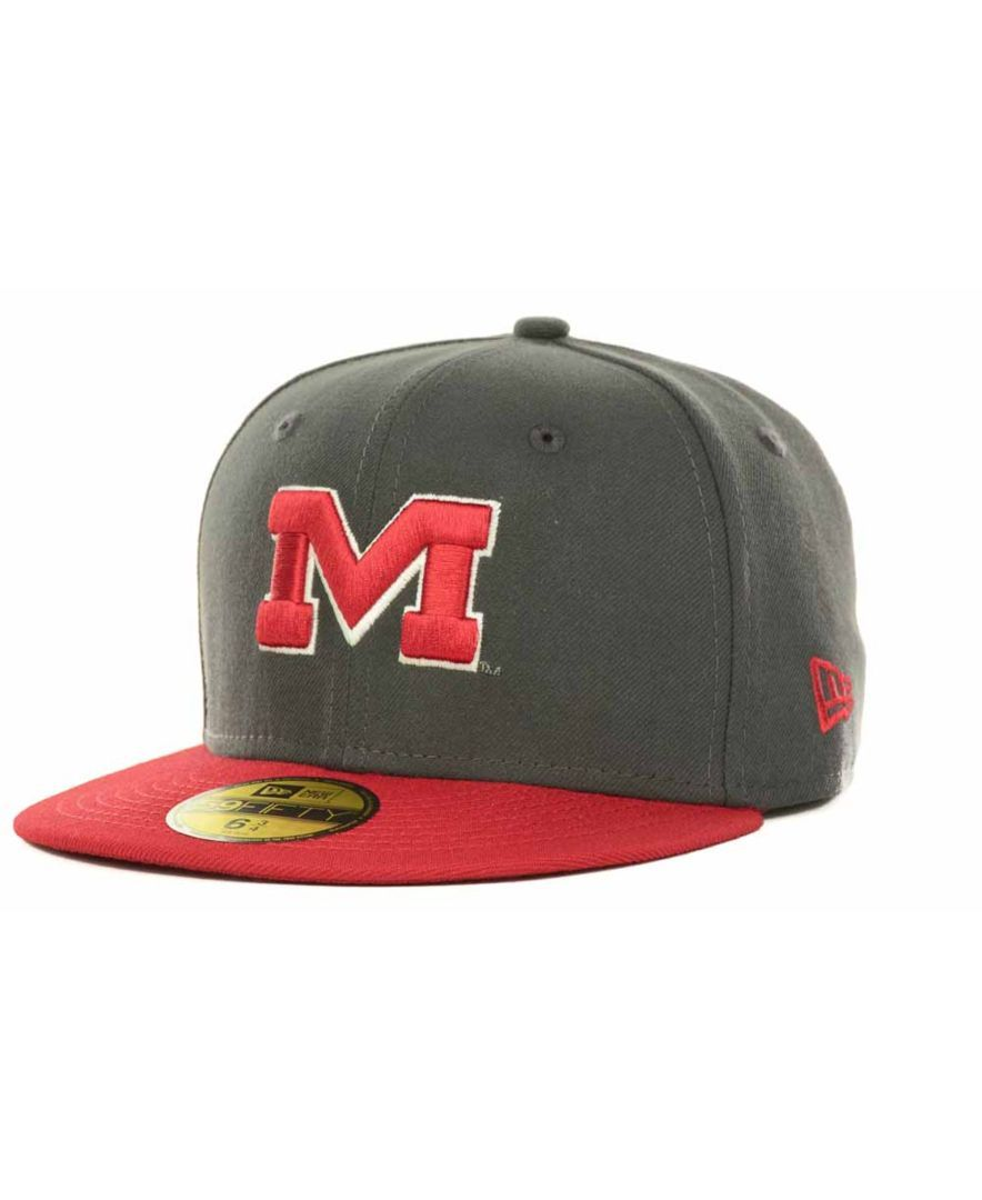 New Era Kids' Mississippi Rebels 2-Tone Graphite and Team Color 59FIFTY Cap