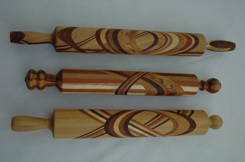 Segmented Rolling Pins Made With Several Wisconsin Woods