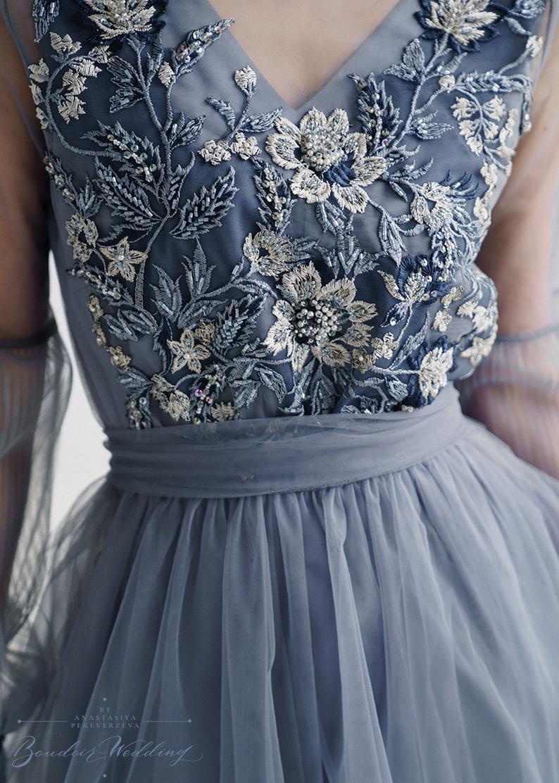 Photo of Dark grey evening dress, evening dress, long sleeve dress, l…
