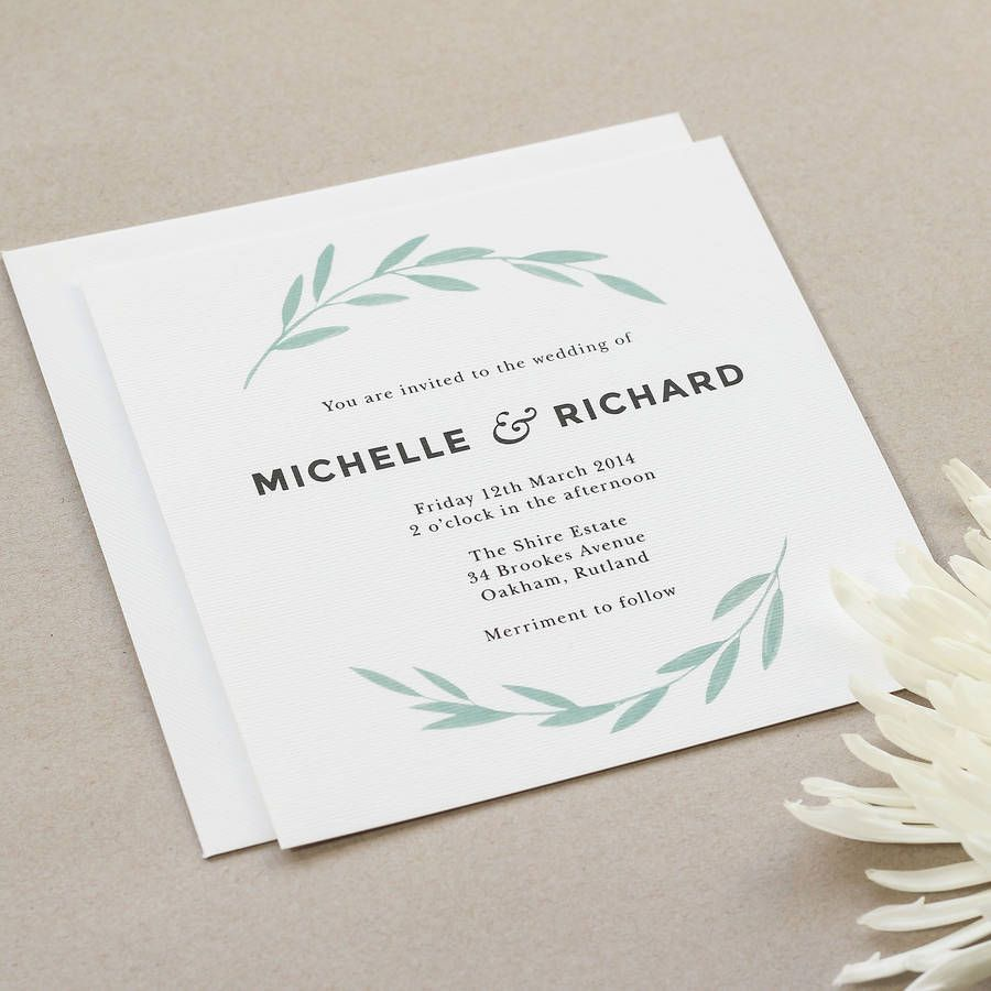 Floral Olive Wedding Stationery | Wedding stationery, Stationery and ...
