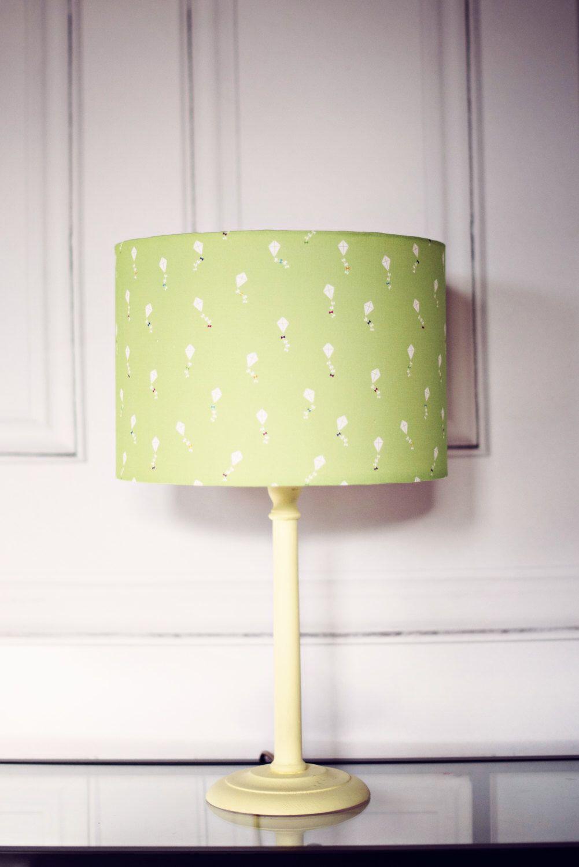 Kite Nursery Lampshade Green Decor Bedroom Drum 8 Inch Lamp Shade Table