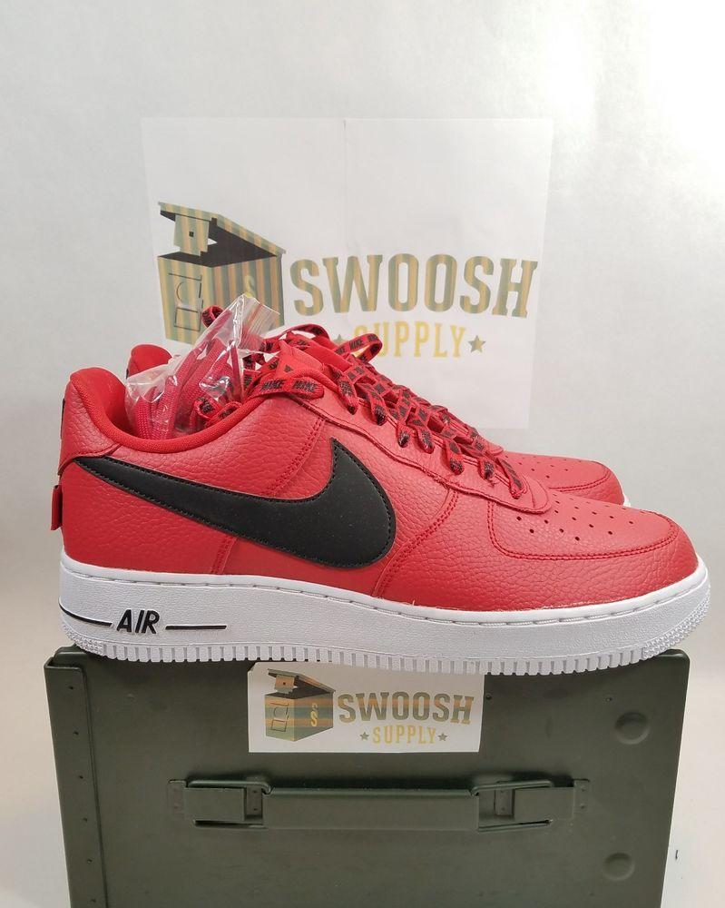 Nike Lv8 Air Force 1 '07 Lv8 Nike Nba Pack Hombres 823511 604 Rojo Negro Blanco 1994b1