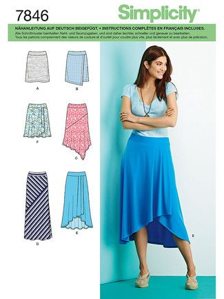 7846 env front | Naaipatronen/Sewing patterns | Pinterest | Rock und ...