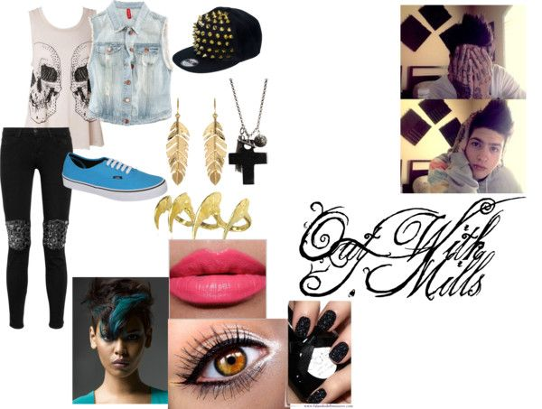 """Out With T. Mills"" by saphira-herrera-loving10 ❤ liked on Polyvore"
