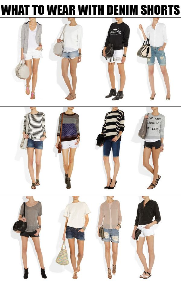 What To Wear With Denim Shorts | How To Wear Shorts | Pinterest ...