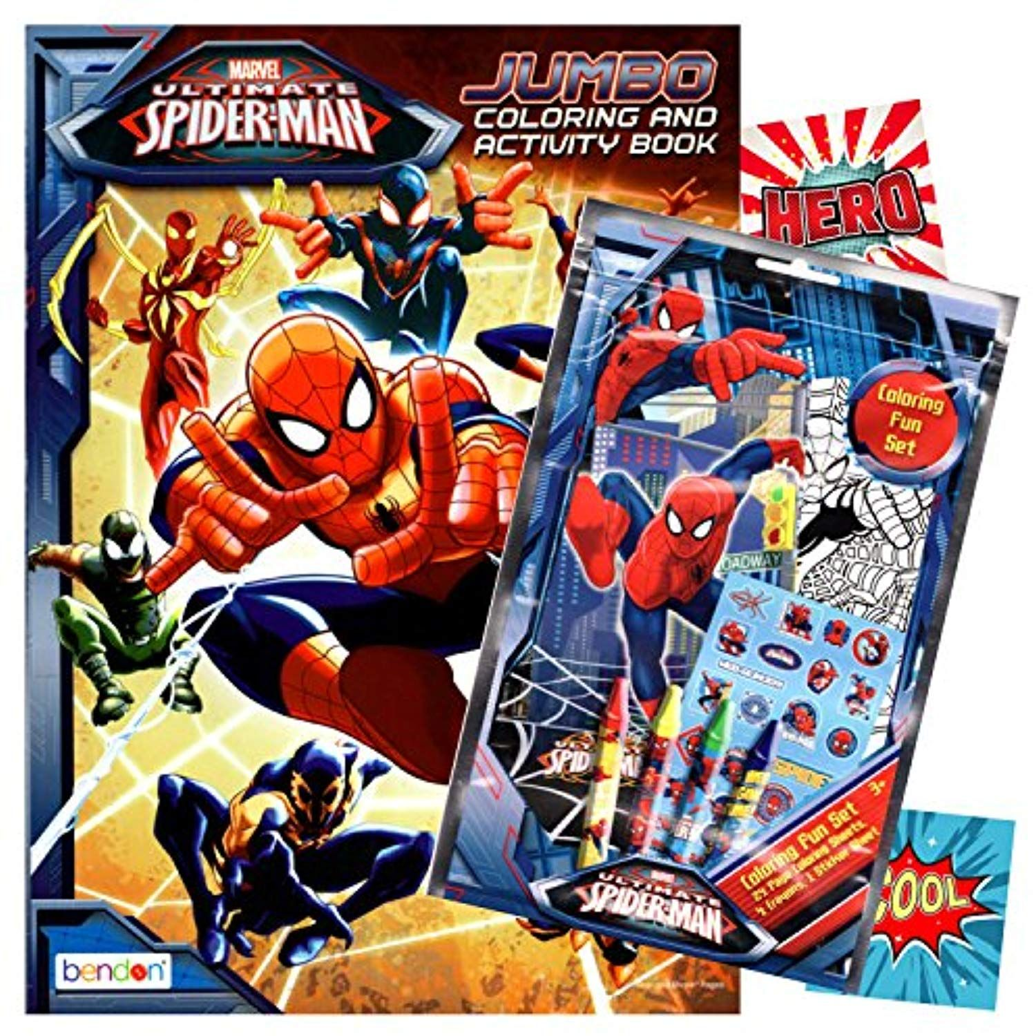 Spiderman Coloring Book With Fun Set Coloring Book And Crayons Stickers Want To Know More Click On Th Spiderman Coloring Coloring Books Marvel Coloring