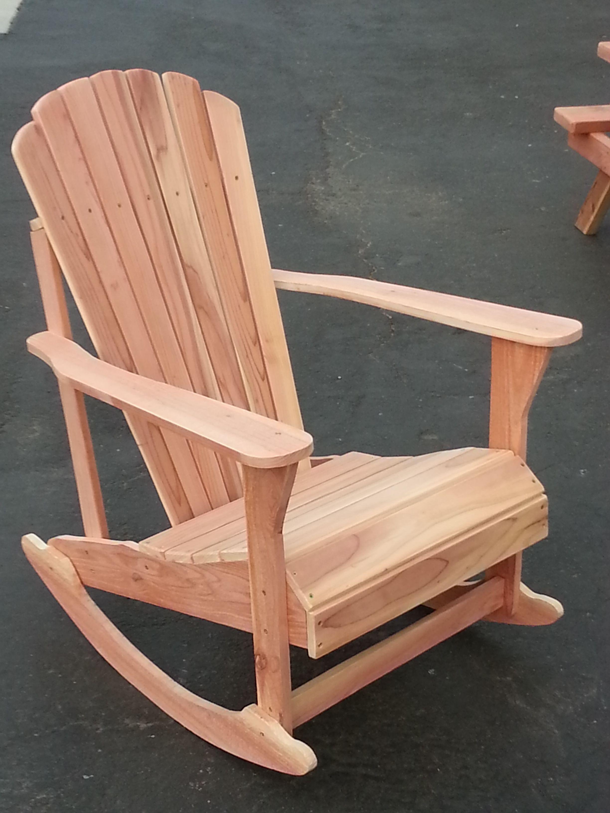 Redwood Patio Furniture Home Depot: Redwood Rocker. Unfinished. $350 Call Steve: 760-333-2410