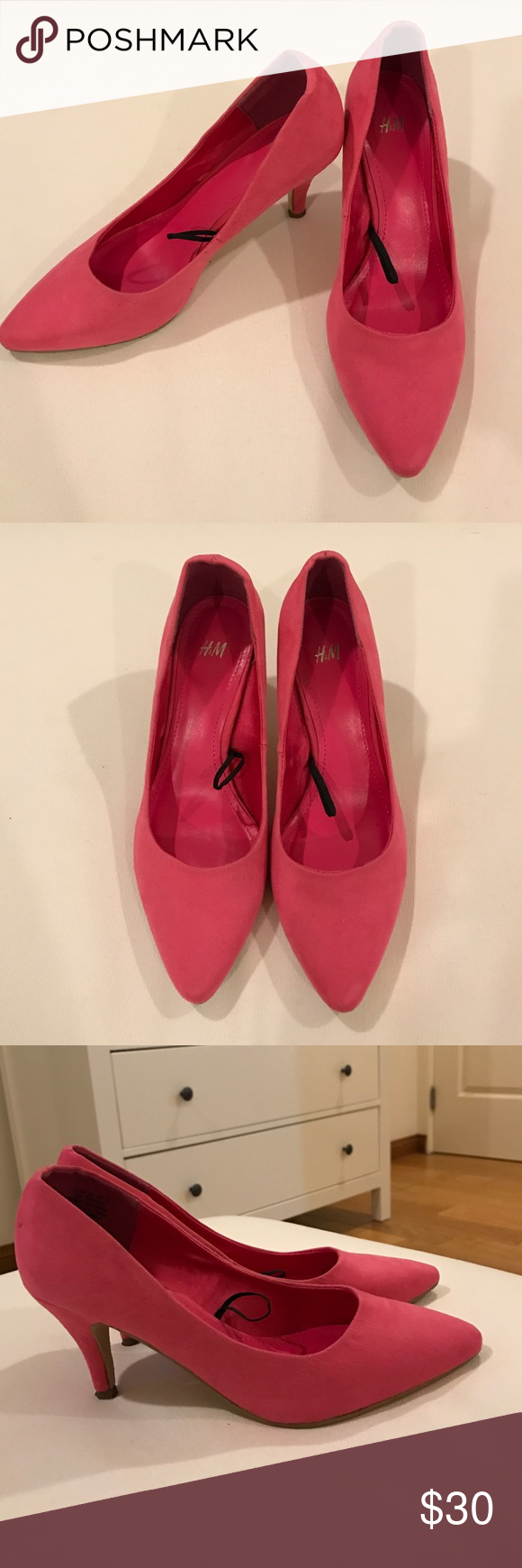 4e334a51f03 H M Barbie pink shoes with kitten heels