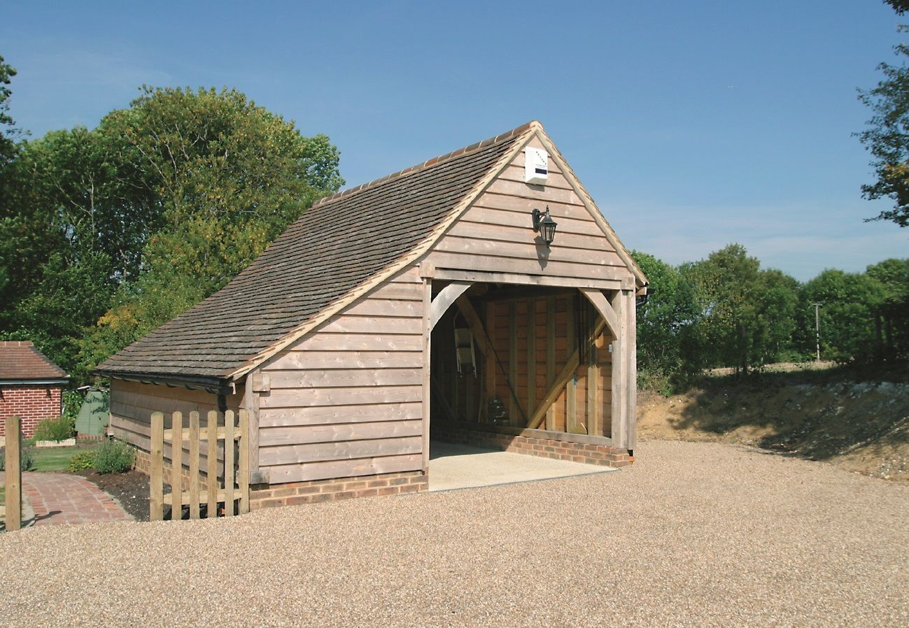 One bay oak framed garage kit self build diy garages from for Diy garage packages