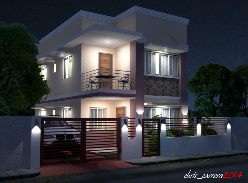 Splendid Two Storey House With Knight View Philippines House Design 2 Storey House Design Small House Design Philippines