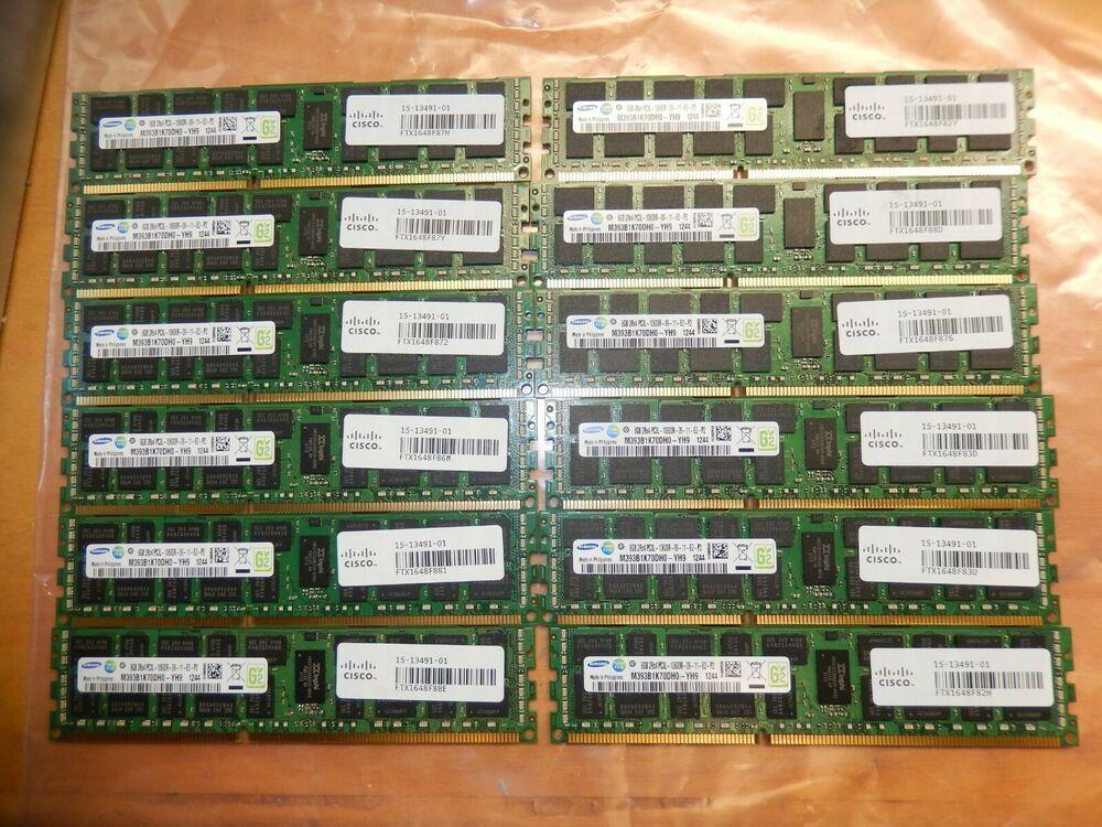 Samsung M393B1K70DH0-YH9 8GB PC3L-10600R DDR3 ECC Memory RAM