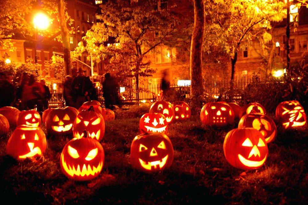 Halloween pumpkin yard decorations lantern pathway led lights