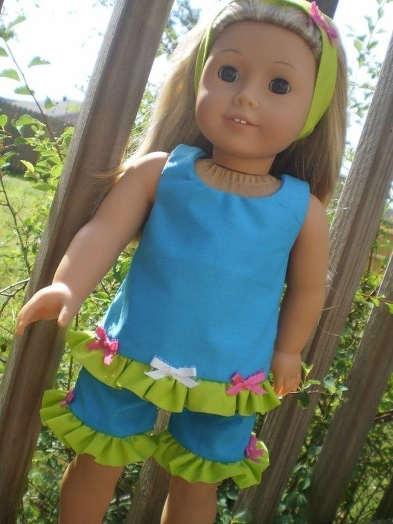 Turquoise Short set made for American Girl by sassydollcreations ...