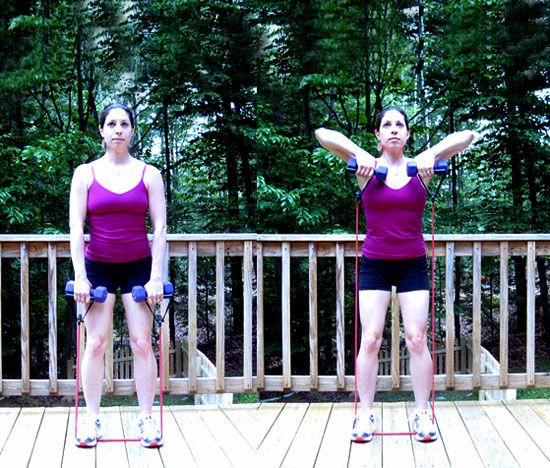 Resistance Bands Upright Row: Head-to-Toe Strength-Training Routine