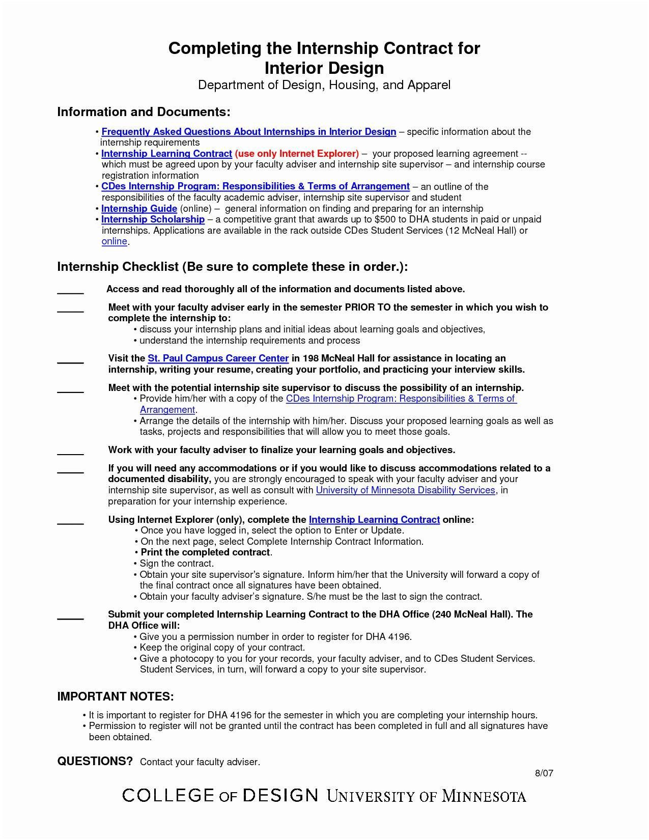 Interior Design Letter Agreement Template Contract Agreement