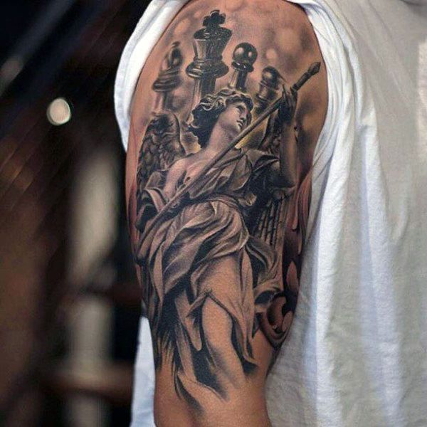 60 King Chess Piece Tattoo Designs For Men Powerful Ink border=