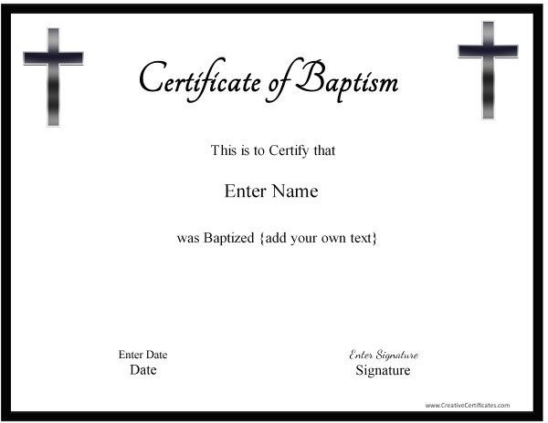 free baptism certificates printable