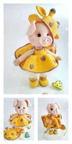 Amigurumi Small Cute Piggy Free Pattern – Motifs Amigurumi gratuits   – Amigurumi