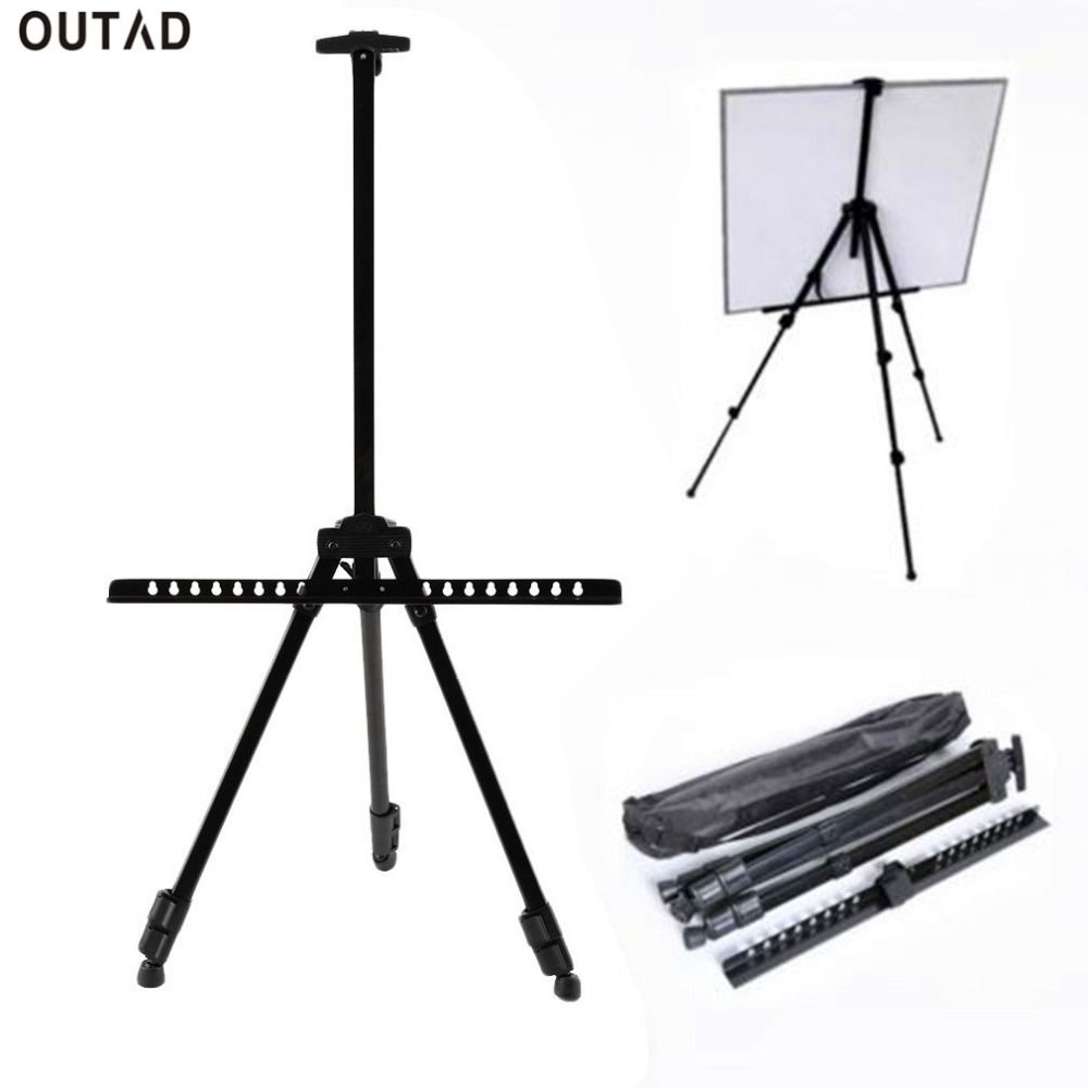 Telescopic Folding Artist Field Studio Painting Easel Tripod Display Stand USA