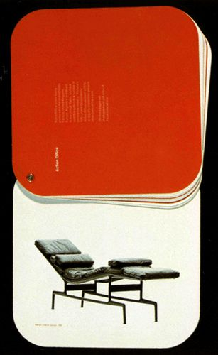 When Herman Miller became a public held company in 1970, the annual report was designed to reflect the company's adherence to innovation.